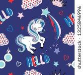 cute unicorn pattern design | Shutterstock .eps vector #1325846996