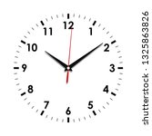clock face icon. symbol watch...   Shutterstock .eps vector #1325863826