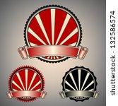 vintage badges | Shutterstock .eps vector #132586574