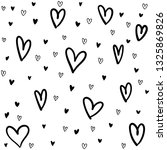 hand drawn doodle hearts | Shutterstock .eps vector #1325869826