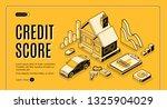 bank consumer credit isometric... | Shutterstock .eps vector #1325904029