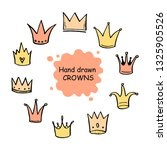 hand drawn set of different... | Shutterstock .eps vector #1325905526