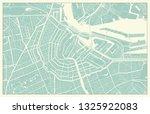 modern amsterdam map in vintage ... | Shutterstock .eps vector #1325922083