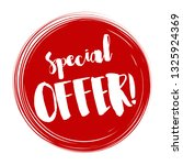 special offer tag  vector... | Shutterstock .eps vector #1325924369