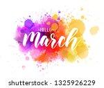 hello march handwritten modern... | Shutterstock .eps vector #1325926229