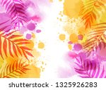 abstract watercolor imitation... | Shutterstock .eps vector #1325926283