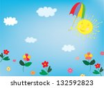 sun and sky background for... | Shutterstock .eps vector #132592823