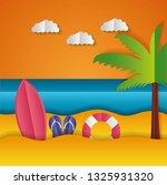 paper origami landscape | Shutterstock .eps vector #1325931320