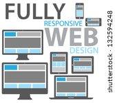 responsive web design icon set... | Shutterstock .eps vector #132594248