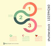 vector modern design template... | Shutterstock .eps vector #132594260