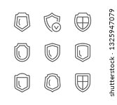 set line icons of shield | Shutterstock .eps vector #1325947079