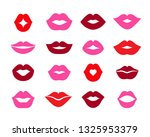 set of lips  different shapes... | Shutterstock .eps vector #1325953379