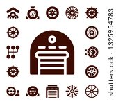 steering icon set. 17 filled... | Shutterstock .eps vector #1325954783