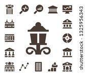 column icon set. 17 filled... | Shutterstock .eps vector #1325956343