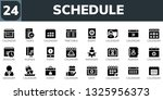 schedule icon set. 24 filled... | Shutterstock .eps vector #1325956373