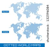 two dotted world maps | Shutterstock .eps vector #132596084