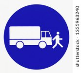 traffic sign. slow down ... | Shutterstock . vector #1325963240