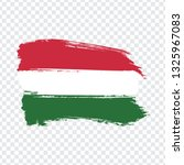 flag of  hungary from brush...