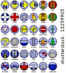 36 vector icons of common map... | Shutterstock .eps vector #13259905