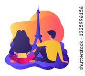 couple male female traveling in ... | Shutterstock .eps vector #1325996156