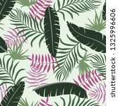 tropical background with palm... | Shutterstock .eps vector #1325996606