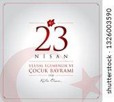 23 nisan cocuk bayrami vector... | Shutterstock .eps vector #1326003590