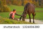 loving young caucasian woman...   Shutterstock . vector #1326006380
