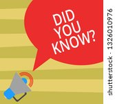 text sign showing did you know. ... | Shutterstock . vector #1326010976