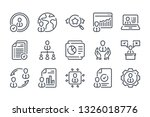 training related line icon set. ...