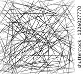 chaotic lines  random chaotic... | Shutterstock .eps vector #1326027770