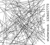 chaotic lines  random chaotic... | Shutterstock .eps vector #1326027773