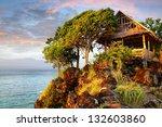 Picturesque Landscape With Hut...