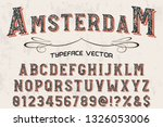 vintage font design vector... | Shutterstock .eps vector #1326053006