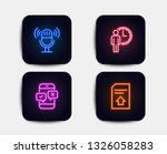 neon glow lights. set of...