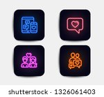 neon glow lights. set of couple ... | Shutterstock .eps vector #1326061403