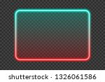 bright turquoise with red neon... | Shutterstock .eps vector #1326061586