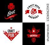 modern craft beer drink... | Shutterstock .eps vector #1326062543