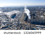 air pollution  factory pipes ... | Shutterstock . vector #1326065999