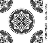 mandala pattern black and white | Shutterstock . vector #1326078059