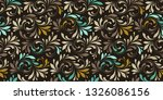 floral seamless pattern. plant... | Shutterstock .eps vector #1326086156