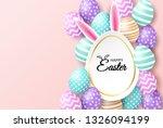 happy easter. celebration.... | Shutterstock .eps vector #1326094199
