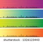 chennai multiple color gradient ...   Shutterstock .eps vector #1326123443