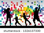 family silhouettes . abstract... | Shutterstock .eps vector #1326137330