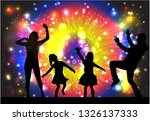 family silhouettes . abstract... | Shutterstock .eps vector #1326137333