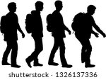 silhouette of a man with... | Shutterstock .eps vector #1326137336