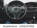 steering wheel  interior of a... | Shutterstock . vector #1326137606