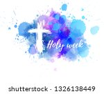 holy week calligraphy text ... | Shutterstock .eps vector #1326138449