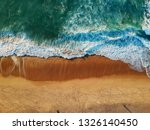 aerial view of sandy beach with ... | Shutterstock . vector #1326140450