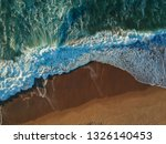 aerial view of sandy beach with ... | Shutterstock . vector #1326140453