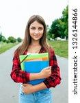girl schoolgirl teenager 11 14... | Shutterstock . vector #1326144866